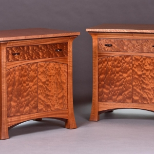 Ribbon Sapele nightstands